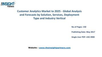 Worldwide Customer Analytics Market Analysis & Trends - Forecast to 2025 |The Insight Partners