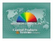 Spectrum & Closing - TTI Inc.