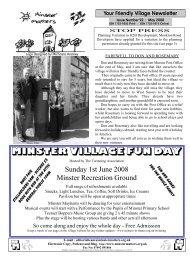 MINSTER VILLAGE FUN DAY - Minster Matters