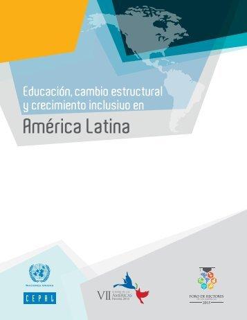 Educación, cambio estructural y crecimiento inclusivo en América Latin