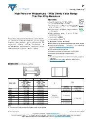 P High Precision Wraparound - Wide Ohmic Value ... - TTI Europe