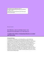 Bedeutung schulischer Rahmenbedingungen - Gute Schulen ...