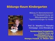 Bildungs-Raum Kindergarten - IFP - Bayern