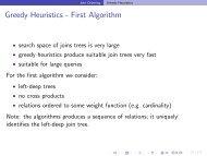 Greedy Heuristics - First Algorithm