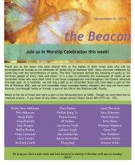 the Beacon - Shalimar United Methodist Church
