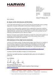 Harwin REACH Directive - TTI Europe