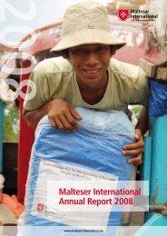 Malteser International Annual Report 2008 - Ordine di Malta