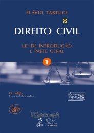 2 - TARTUCE, Flávio. Direito Civil - Vol. 01 -  Lei de Introdução a Parte Geral (2017)