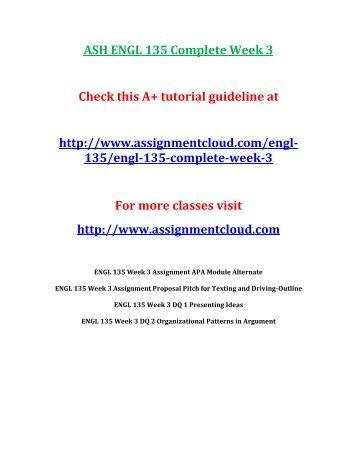 ASH ENGL 135 Complete Week 3