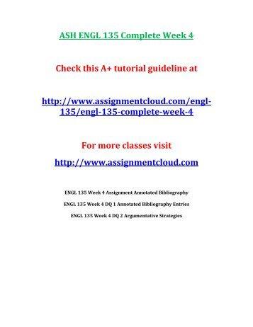 ASH ENGL 135 Complete Week 4