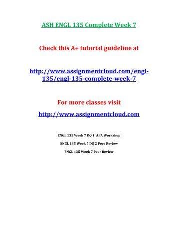ASH ENGL 135 Complete Week 7