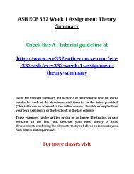 ASH ECE 332 Week 1 Assignment Theory Summary
