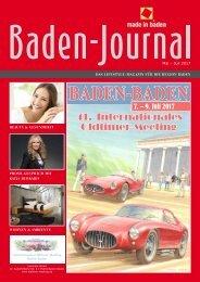 Baden Journal Mai - Juli 2017