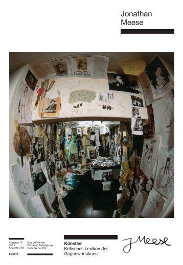 Jonathan Meese - Zeit Kunstverlag