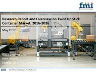 Research Report and Overview on Twist Up Stick Container Market, 2016-2026