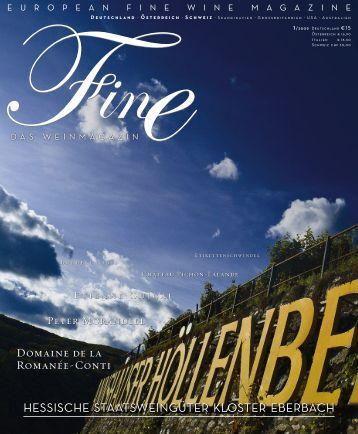 FINE Das Weinmagazin - 01 2009