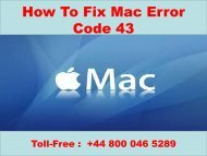 #Call  +44-800-046-5289 How To Fix Mac Error Code 43