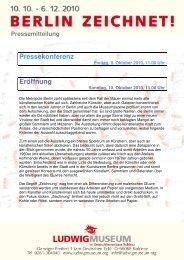 Pressemitteilung - Ludwig Museum Koblenz