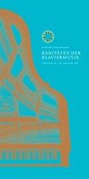 Raritäten der Klaviermusik. 2017 Brochure. Highres for print