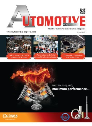 Automotive Exports  – May 2017