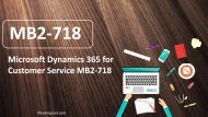 ExamGood MB2-718 Microsoft Dynamics 365 for Customer Service exam dumps