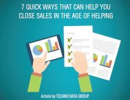 7 QUICK WAYS THAT CAN HELP YOU CLOSE SALES IN THE AGE OF HELPING
