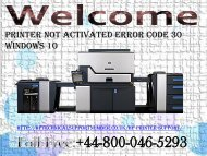 How To Fix Printer Not Activated Error Code 30 in Windows 10? | HP Technical Support Number