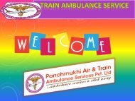Get Low Train Ambulance Services in Patna and Delhi