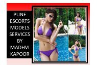 Get in touch erotic services in Pune- Madhvi Kapoor