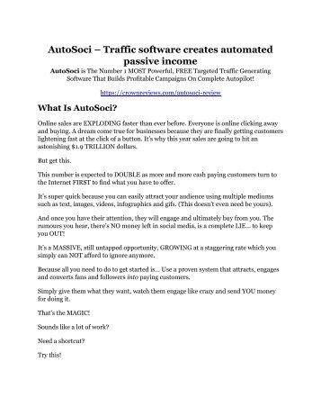 AutoSoci review & bonus - I was Shocked!
