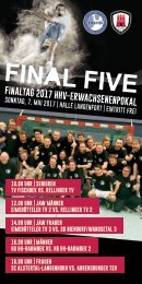 Final Five Pokalheft