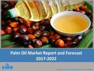 Global Palm Oil Market | Size | Share | Industry Report and Forecast 2017-2022
