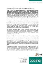 Katalog zum Jubiläumsjahr 2012: Künstler gratulieren boesner