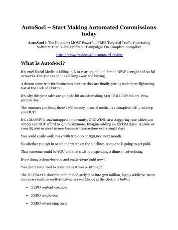 AutoSoci Review - MASSIVE $23,800 BONUSES NOW!