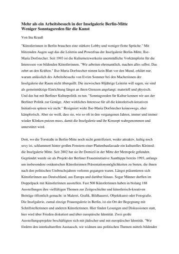 Der Bericht von Ina Krauß als pdf-Datei - Evrim Sommer