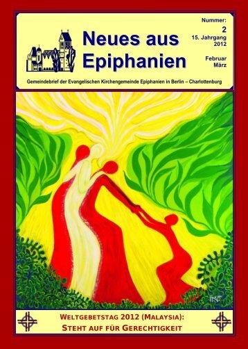 Februar / März 2012 - Epiphanien