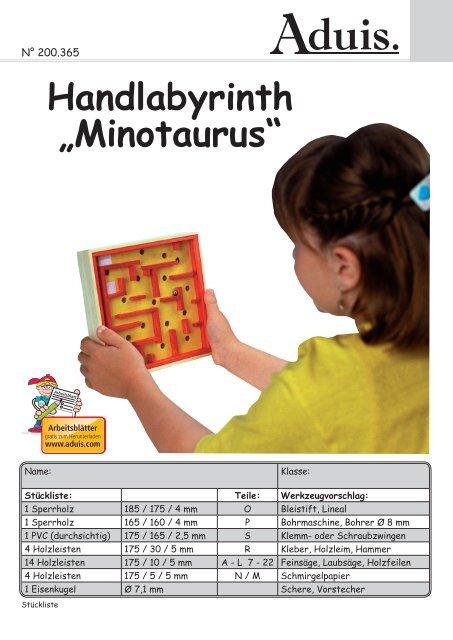 Weihnachtsbasteln 5 Klasse.Handlabyrinth Minotaurus Basteln Mit Aduis