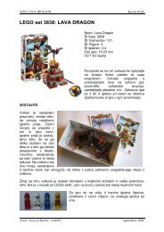 LEGO set 3841: MINOTAURUS - Kocke klub