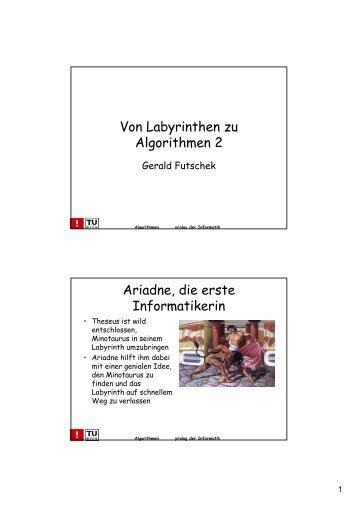 Von Labyrinthen zu Algorithmen 2 Ariadne, die erste Informatikerin