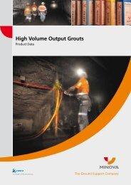 High Volume Output Grouts - Minova Australia