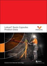 Lokset® Resin Capsules Product Data - Minova Australia
