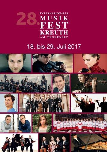 Programmheft 28. Int. Musikfest Kreuth am Tegernsee