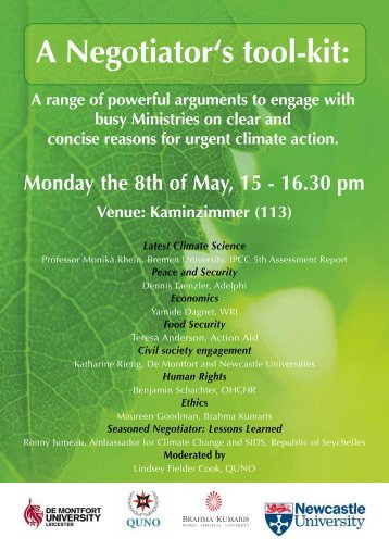 Side Event 8 MAY 3pm A Negotiator's Toolkit(1)