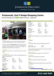 Unit F Bridge Shopping Centre - Johnson Fellows