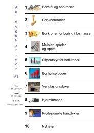Katalog: Alle produkter - Anleggspartner AS