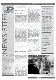 MäRZ/APRIL 2012 - Partner:Schule-Wirtschaft