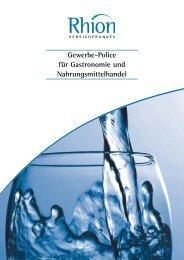 Gewerbe-Police für Gastronomie und Nahrungsmittelhandel - Rhion