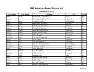 2011 Geoscience Forum Delegate List - NWT Community Mobilization
