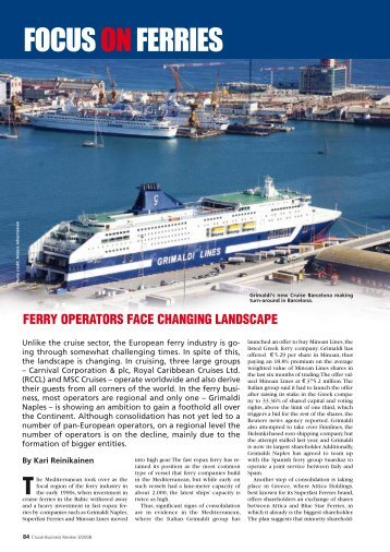 Focus on ferries - Cruise Business Review