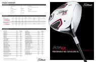 Performance you can believe in. TiTleiST 909DcomP